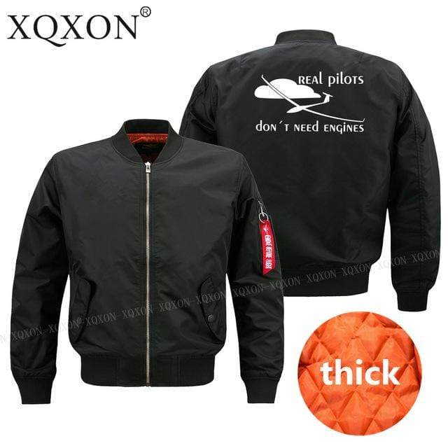 PilotsX Jacket Black thick / S Real pilots don't need engines Jacket -US Size