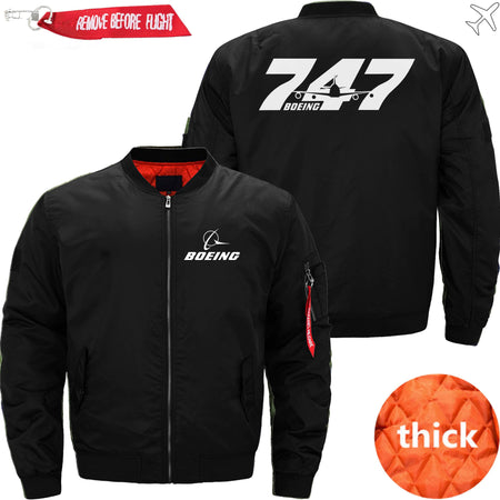 PilotsX Jacket Black thick / S The B 747 Jacket -US Size
