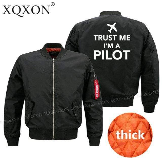 PILOTSX Jacket Black thick / S Trust me l am a pilot Jacket -US Size