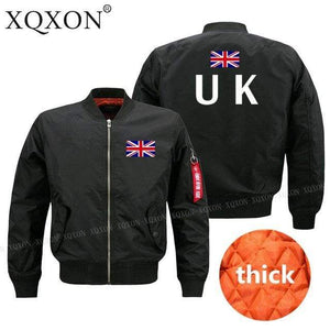 PILOTSX Jacket Black thick / S United Kingdom flag Jacket -US Size