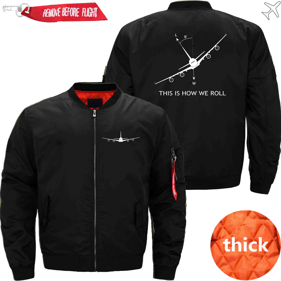 PilotsX Jacket Black thick / XS THIS IS HOW WE ROLL Jacket -US Size