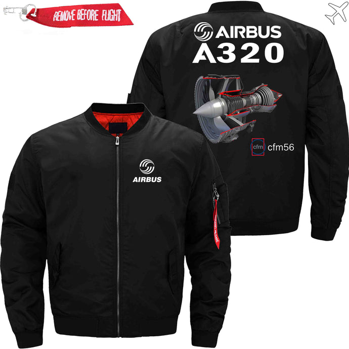 PilotsX Jacket Black thin / S Airbus A320 cfm 56 Jacket -US Size
