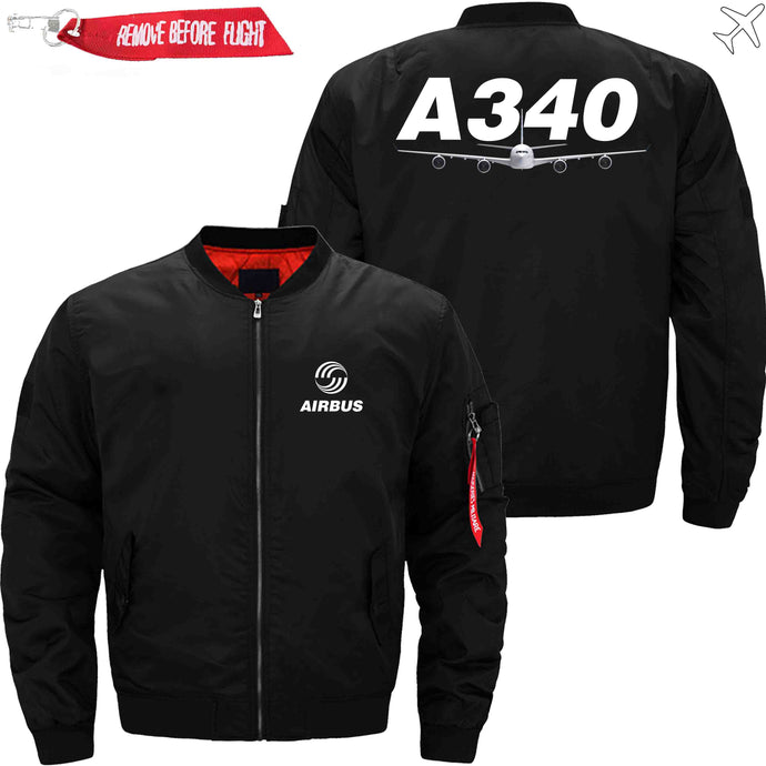 PilotsX Jacket Black thin / S Airbus A340 Jacket -US Size
