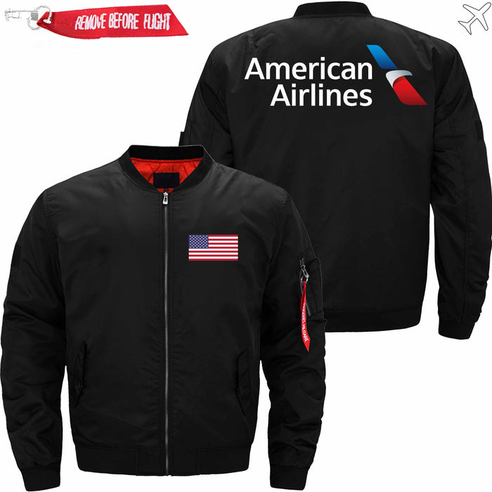 PilotsX Jacket Black thin / S American Airlines Jacket -US Size