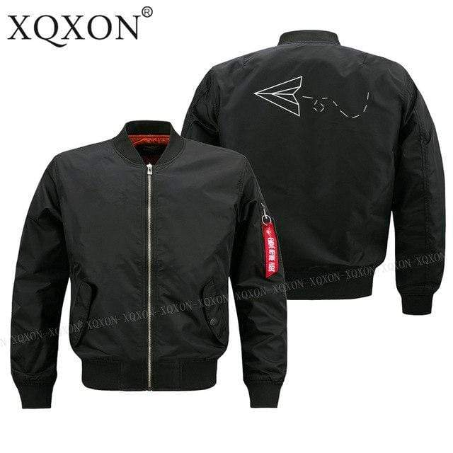 PilotsX Jacket Black thin / S Aviator Paper Airplane Dreams Jacket -US Size