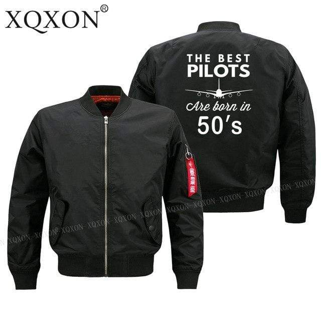 PILOTSX Jacket Black thin / S Best pilots are born in 50's Jacket -US Size