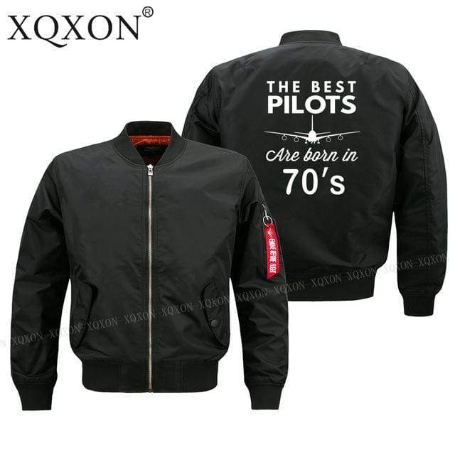 PILOTSX Jacket Black thin / S Best pilots are born in 70's Jacket -US Size