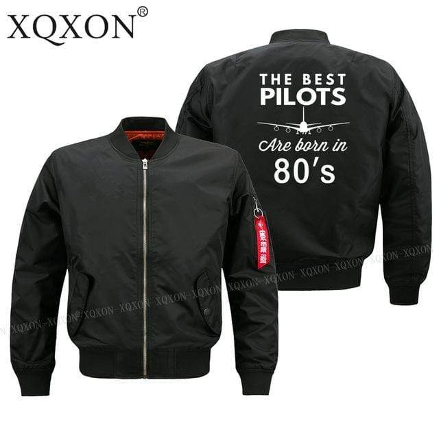 PILOTSX Jacket Black thin / S Best pilots are born in 80's Jacket -US Size