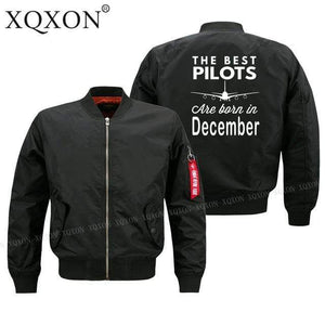 PilotsX Jacket Black thin / S Best pilots are born in December Jacket -US Size