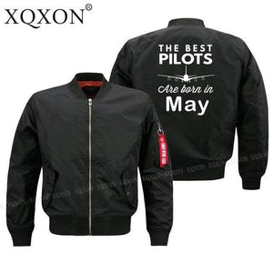PilotsX Jacket Black thin / S Best pilots are born in May Jacket -US Size