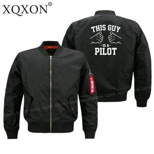 PilotsX Jacket Black thin / S his guy is a pilot Jacket -US Size