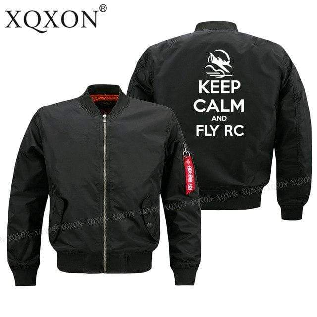PilotsX Jacket Black thin / S Keep calm and Fly RC Jacket -US Size