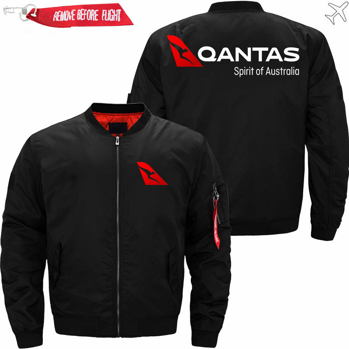 PilotsX Jacket Black thin / S Qantas Airways Jacket -US Size