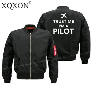 PILOTSX Jacket Black thin / S Trust me l am a pilot Jacket -US Size