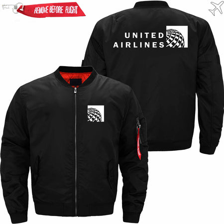 PilotsX Jacket Black thin / S United Airlines Jacket -US Size
