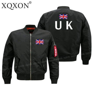 PILOTSX Jacket Black thin / S United Kingdom flag Jacket -US Size