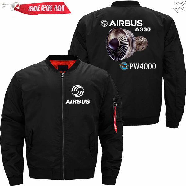 PilotsX Jacket Black thin / XS Airbus A330-Engine PW4000 Jacket -US Size
