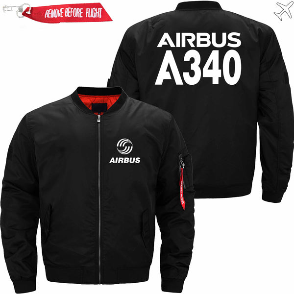 PilotsX Jacket Black thin / XS Airbus A340 Jacket -US Size