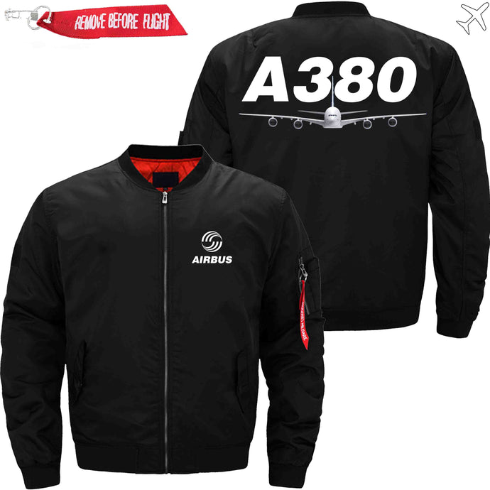 PilotsX Jacket Black thin / XS Airbus A380 Jacket -US Size
