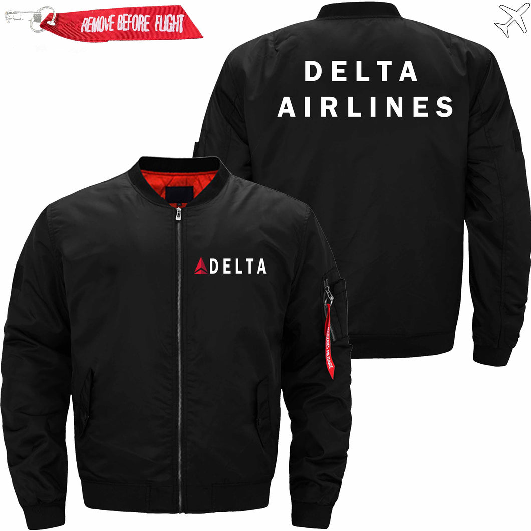 PilotsX Jacket Black thin / XS Delta Air Lines Jacket -US Size
