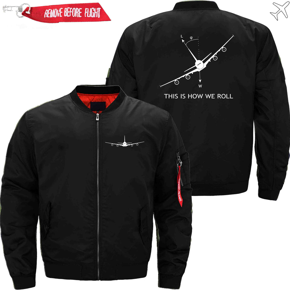 PilotsX Jacket Black thin / XS THIS IS HOW WE ROLL Jacket -US Size