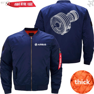 PilotsX Jacket Dark blue thick / M CFM56 Jacket -US Size