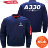PilotsX Jacket Dark blue thick / S Airbus A330 Jacket -US Size