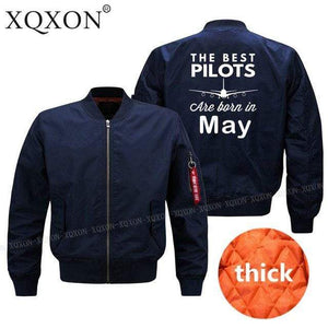 PilotsX Jacket Dark blue thick / S Best pilots are born in May Jacket -US Size