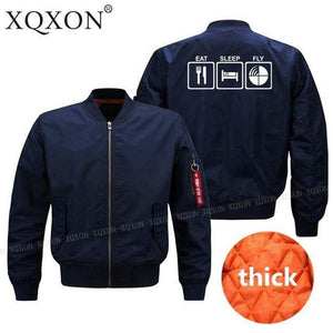 PILOTSX Jacket Dark blue thick / S EAT SLEEP FLY Jacket -US Size