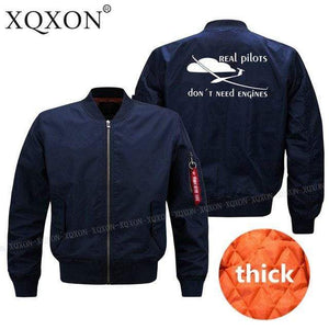 PilotsX Jacket Dark blue thick / S Real pilots don't need engines Jacket -US Size