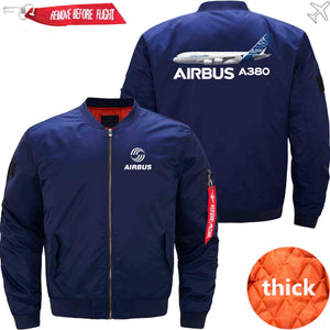 PilotsX Jacket Dark blue thick / XS Airbus A380 Jacket -US Size