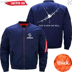 PilotsX Jacket Dark blue thick / XS THIS IS HOW WE ROLL A380 Jacket -US Size