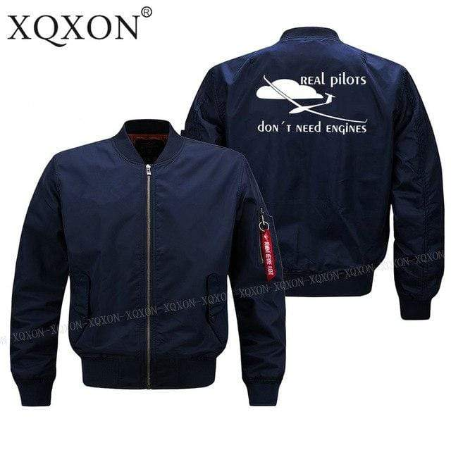 PilotsX Jacket Dark blue thin / S Real pilots don't need engines Jacket -US Size