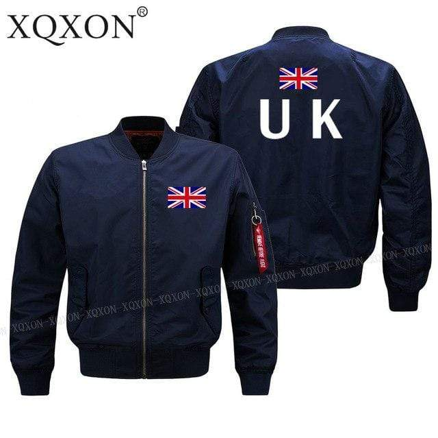 PILOTSX Jacket Dark blue thin / S United Kingdom flag Jacket -US Size