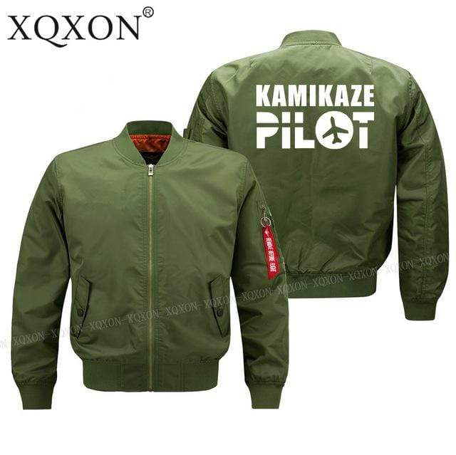 PilotsX Jacket S / Army green Thin kamikaze pilot Jacket -US Size