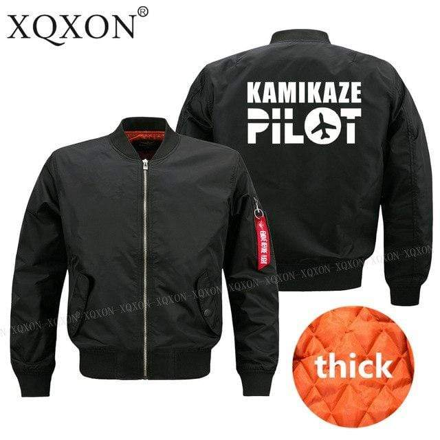 PilotsX Jacket S / Black Thick kamikaze pilot Jacket -US Size