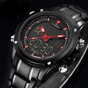 PILOTSX Men Military Waterproof LED Sport Watches