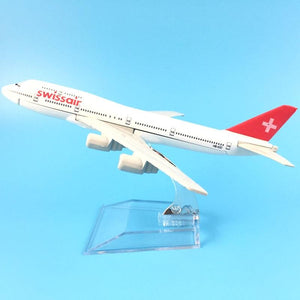 PILOTSX Model Aircraft Swiss Air Swissair Airlines The 747 200