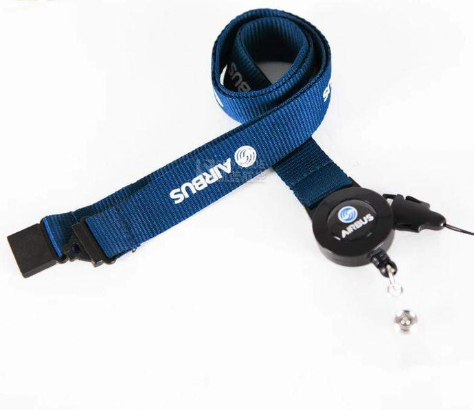 PILOTSX New Airbus Blue Lanyard  for Pliot Flight Crew 's License ID Card Holder