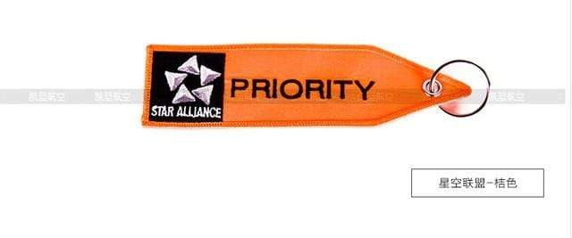 "PILOTSX orange "" PRIORITY "" Luggage with embroider Travel Luggage Bag Tag"