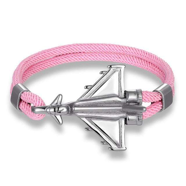 PILOTSX Pink D / 23cm Stainless Steel Jet Fighter Bracelets