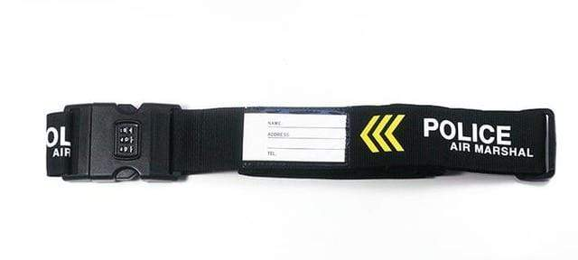 PILOTSX police 1PCS Personality Packing Tape with Password Buckle Luggage Strap