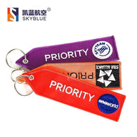 "PILOTSX "" PRIORITY "" Luggage with embroider Travel Luggage Bag Tag"