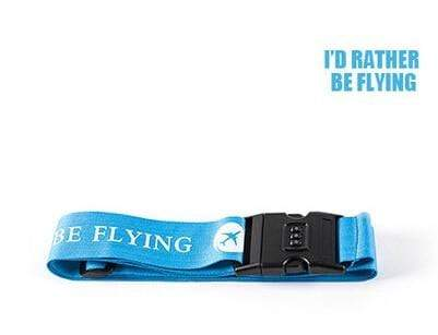 PILOTSX rather be flying 1PCS Personality Packing Tape with Password Buckle Luggage Strap