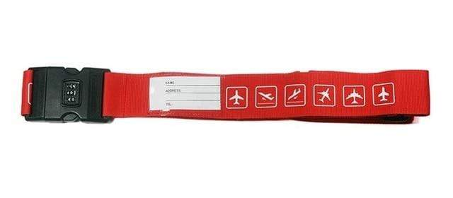 PILOTSX red 1PCS Personality Packing Tape with Password Buckle Luggage Strap