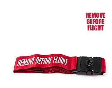 PILOTSX remove before flight 1PCS Personality Packing Tape with Password Buckle Luggage Strap
