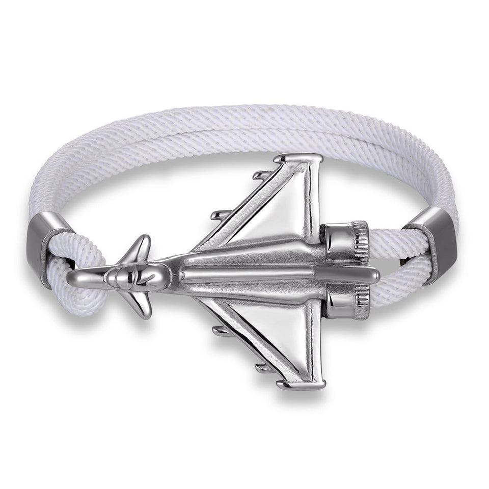 PILOTSX Stainless Steel Jet Fighter Bracelets