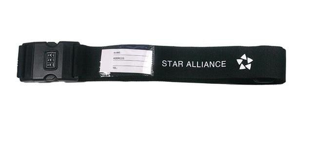 PILOTSX star alliance 1PCS Personality Packing Tape with Password Buckle Luggage Strap