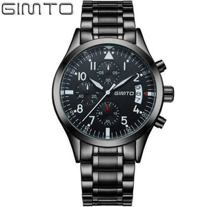 PILOTSX steel band black Auto Date Multifunction Watches