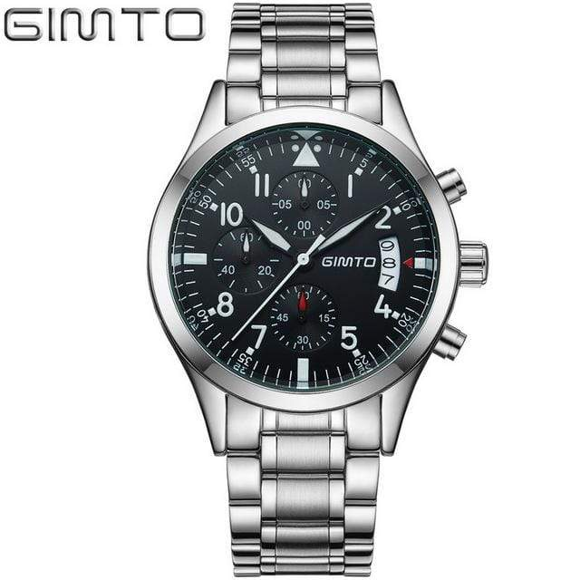 PILOTSX steel band silver Auto Date Multifunction Watches